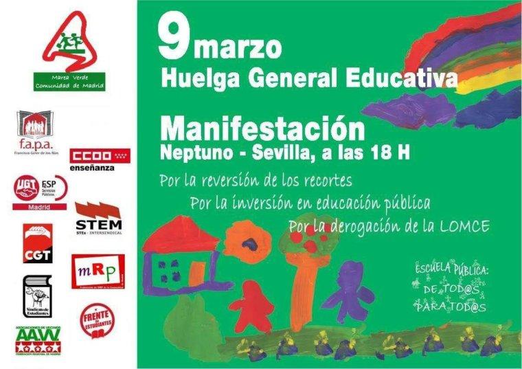 huelga enseñanza